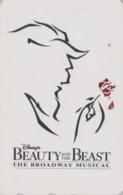 Télécarte Japon / 110-174266 A - DISNEY - FILM BEAUTY & THE BEAST ** BROADWAY MUSICAL ** - Movie Japan Phonecard - Disney