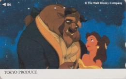 Télécarte Japon / 110-011 - DISNEY - FILM BEAUTY & THE BEAST ** TOKYO PRODUCE ** - Movie Japan Phonecard - Disney