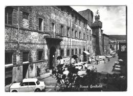 936 - SANTA FIORA GROSSETO STAZIONE CLIMATICA PIAZZA GARIBALDI ANIMATA 1950 CIRCA - Grosseto