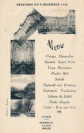 Institution Libre De Combrée (49 Maine Et Loire) Menu Du Déjeuner Du 8 Décembre 1932 - Invitation De L'evêque D'Angers ? - Autres Communes