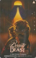 Télécarte Japon / 110-011 - DISNEY - FILM BEAUTY & THE BEAST ** ONE PUNCH ** - Movie Japan Phonecard - Disney