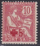 Port Said, Scott #B1, Mint Hinged, The Rights Of Man Surcharged, Issued 1915 - Nuovi