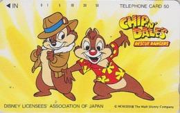 Télécarte NEUVE Japon / 110-70730 - DISNEY - CHIP & DALE - TIC & TAC Ecureuil Squirrel - Movie Japan MINT Phonecard - Disney