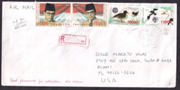 Indonesia - 2002 - Lettre - Oiseaux - Canards - Patos