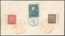 "BUS Mobile Post Office Czechoslovakia 1938 PRAHA AUTOPOSTA ""1d"" Pmk Autobus Automobil-Postbureau + Sokol Sport Games - Busses"