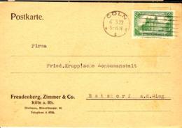 Allemagne Poste Obl Yv:113 Mi:113 Reichspostamt In Berlin (TB Cachet à Date) Carte Cöln 6-3-22 - Germany