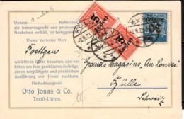 Allemagne Poste Obl Yv:252-260 Mi:277 Chiffre X2 (TB Cachet Rond) Carte Köln 6-9-23 - Germany