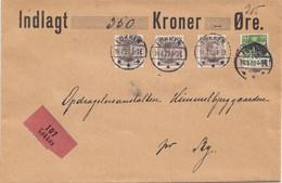 Dänemark: 1922: Wertbrief Von Lokkein Nach Ry - Dänemark