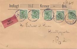 Dänemark: 1915: Wertbrief Von Hadsten Nach Ry - Dänemark