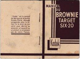 Manuel D'utilisation Du Brownie Target Six-20 - Kodak - Photographie