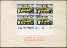 BUS Mobile Post Office Switzerland 1938 1.SCHWEIZ AUTOMOBIL-POSTBUREAU Pmk + Eucharistic Congress TPO Ambulant Suisse - Busses