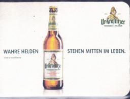"""Deutschland - Ur-Krostiitzer """"Wahre Helden Stehen Mitten Im Leben"""" - Beer Mats"""
