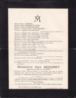 SOLRE-SUR-SAMBRE FONTAINE-VALMONT Max BEDORET Administrateur De Sociétés  65 Ans 1951 Famille WAUTIER MARY - Décès
