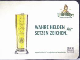 """Deutschland - Ur-Krostiitzer """"Wahre Helden Setzen Zeichen"""" - Beer Mats"""