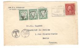 22535 - Avec 3 Timbres Taxe  Pour La France - Etats-Unis