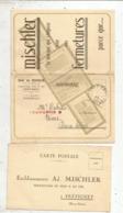 Cp , 3 Volets, Fermetures MISCHLER ,  FRETIGNEY , Haute Saône ,4 Scans - Pubblicitari