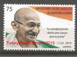 Cuba 2019 150th Anniversary Of Mahatma Gandhi`s Birthdate 1v MNH - Nuovi