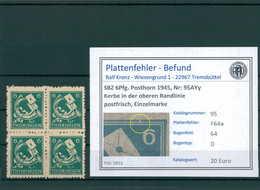 SBZ 1945 Nr 95AYy F64a Postfrisch (204165) - Sowjetische Zone (SBZ)