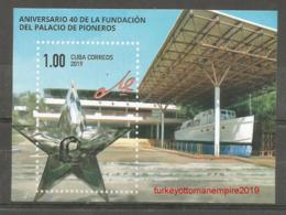 "Cuba 2019 40th Anniversary Of Piooners Palace ""Ernesto Che Guevara"" Granma Ship S/S MNH - Cuba"