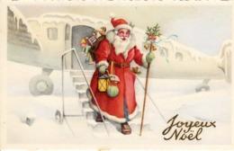 Thematiques Vœux Mini CP Joyeux Nöel Pere Nôel  Descente D'Avion - Santa Claus