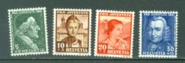 Suisse   Yvert  371/374    *  TB - Zwitserland