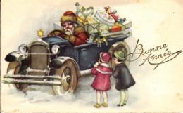 Thematiques Vœux Mini CP Bonne Année  Pere Nôel Santa Claus VOiture Enfants - New Year