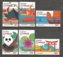 Cuba 2019 World Philatelic Exhibition China, (Panda Bear, Dragon, Flower, Pig, Ship) 6v + S/S MNH - Bären