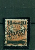 Danzig, Auf Germania, Nr. 68 B Gestempelt Geprüft BPP + Infla - Danzig