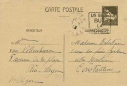Entier Postal 1F 20 Algerie Cachet(1943) Flamme UN SEUL BUT LA VICTOIRE  RV - Algérie