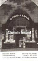 Carte De Visite Librairie SYLVIE YVONNE PAILLOCHER Place Des Vosges Paris 75 - Scans Recto-verso - Cartoncini Da Visita