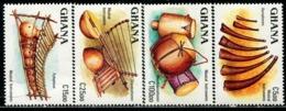 BW0775 Ghana 1987 National Musical Instrument 4V MNH - Musik