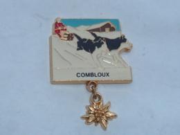 Pin's TRAINEAU HUSKY, COMBLOUX, PENDENTIF - Villes
