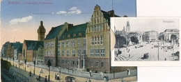 Leporello Cp Wrocław Breslau Schlesien, Technische Hochschule, Rathaus, Universität, Blücherplatz - Schlesien