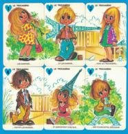 6 CARTES DU JEU DES 7 FAMILLES LES GAMINS DE PARIS FAMILLE LE TROCADERO ( GRAND FORMAT 100 MM X 65 MM ) - Cartes à Jouer Classiques