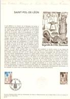 DOCUMENT FDC 1975 SAINT POL DE LEON FINISTERE - Documents De La Poste