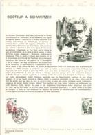 DOCUMENT FDC 1975 DOCTEUR SCHWEITZER - Documents Of Postal Services