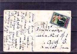 Lettonie - Carte Postale De 1921 - Oblit Train Resekne Riga - Exp Vers Riga - Lettonie