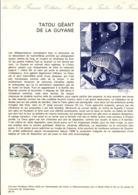 DOCUMENT FDC 1974 TATOU GEANT DE LA GUYANE - Postdokumente
