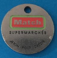 Luxembourg - Mersch - Jeton De Caddie - Supermarché Match - Topaze - Entriegelungschips Und Medaillen