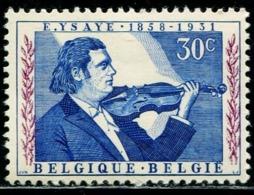 BW0795 Belgium 1958 Violinist 1V MNH - Musik