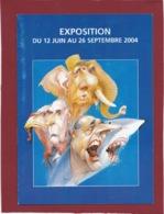 EXPO AU MUSÉE PEYNET DE L'ILLUSTRATEUR MORCHOISNE MITTERRAND CHIRAC DE GAULLE - Programas