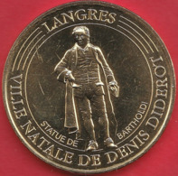 MONNAIE DE PARIS 52 LANGRES - VILLE NATALE DE DENIS DIDEROT - STATUE DE BARTHOLDI 2017 - 2017