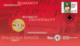 AUSTRALIA • 2014 • Red Cross: 100 Years Of People Helping People • Postal Numismatic Cover - Dollar