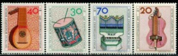 BW0821 West Berlin 1973 National Musical Instrument 4V MNH - Musik