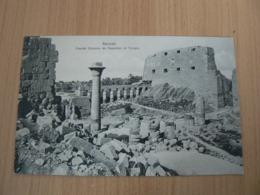 CP 119 / EGYPTE /  KARNAK GRANDE COLONNE DE NAPOLEON ET TEMPLE  / CARTE NEUVE - Le Caire