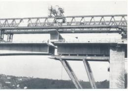 SAINT BRIEUC (22.Côtes D'Armor) Construction Du Viaduc Du Gouet Surplombant Le Légué - Saint-Brieuc