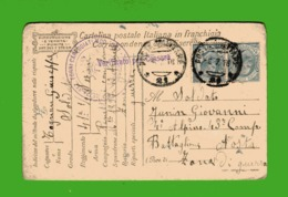 CARTOLINA POSTALE IN FRANCHIGIA 1918. Zona Di Guerra - 1900-44 Vittorio Emanuele III