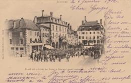 Senones   - Place De L'Hotel De Ville à Château Avant L'Incendie - Senones