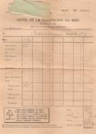Facture De L'hôtel De La Compagnie Du Midi à Toulouse, Chambre Du Pharmacien Boustein De Nay, Années 1960 - 1950 - ...