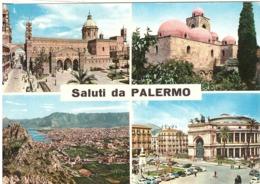 1983 £300 BARDONECCHIA SU CARTOLINA SALUTI DA PALERMO - Saluti Da.../ Gruss Aus...